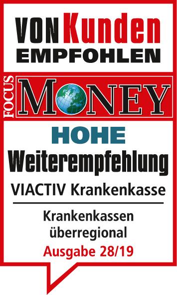 Focus Money - Siegel zur Weiterempfehlung